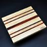 Cutting Board 10 x 12 Maple with Padauk accents image 1