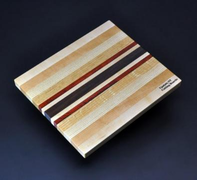 Mixed hardwood Cutting Board with Padauk -1 8.5 x 10 x .75 image 1