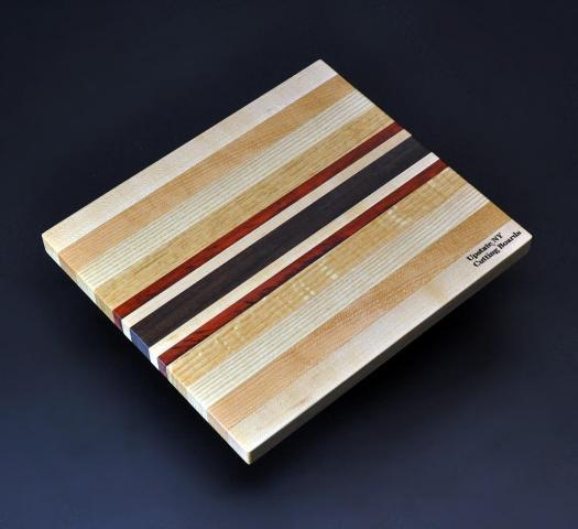 Mixed hardwood Cutting Board with Padauk -1 8.5 x 10 x .75 image 1