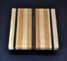 Mixed hardwood Cutting Board with Peruvian Walnut 8.5 x 10 x .75 image 2