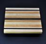 Mixed hardwood Cutting Board with Peruvian Walnut 8.5 x 10 x .75 image 3