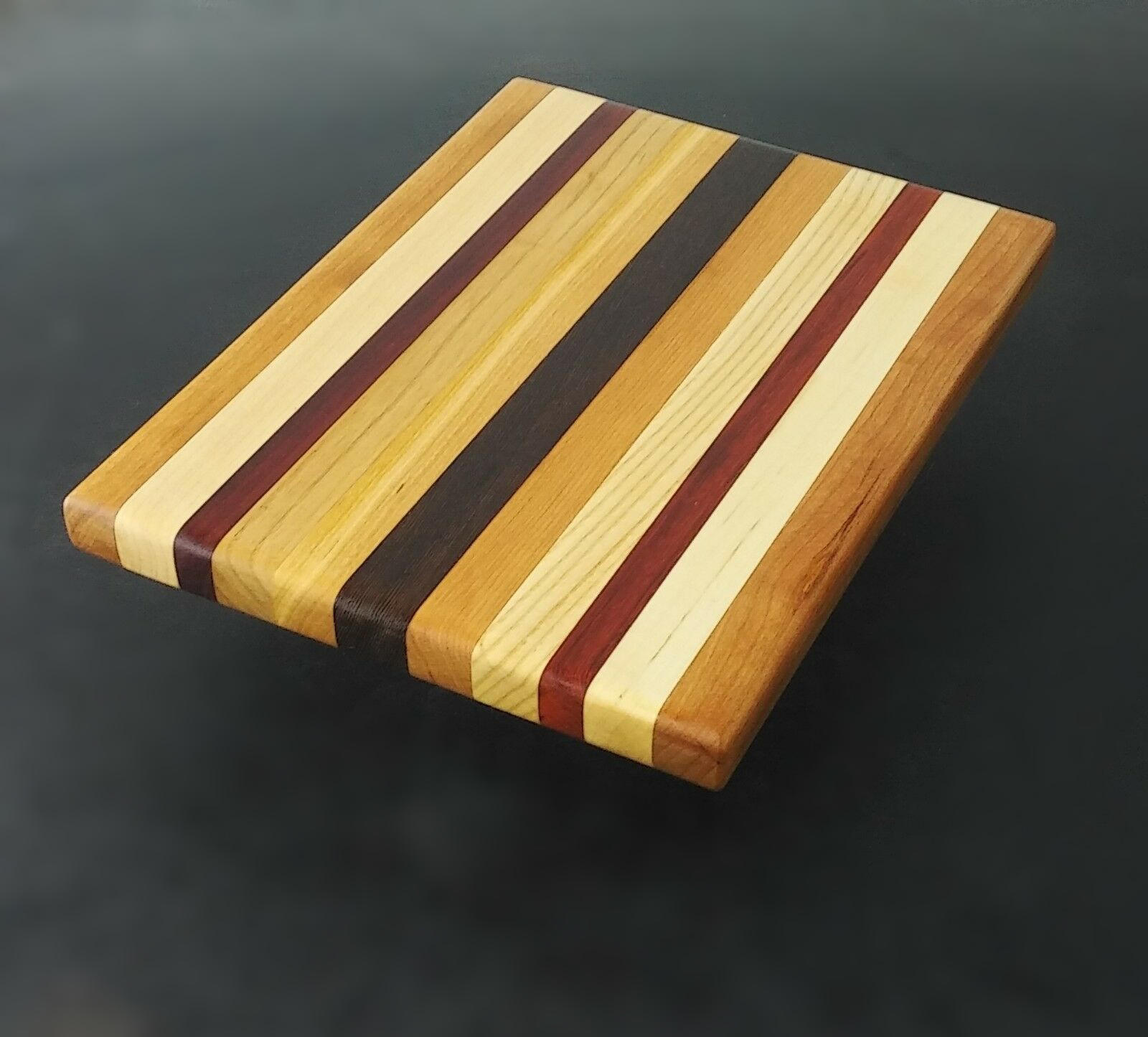 Cutting Board 8.5 x 10 x ¾ padauk accents image 1