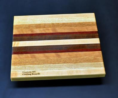Mixed hardwood Cutting Board with Padauk 8.5 x 10 x .75 - 3 image 1