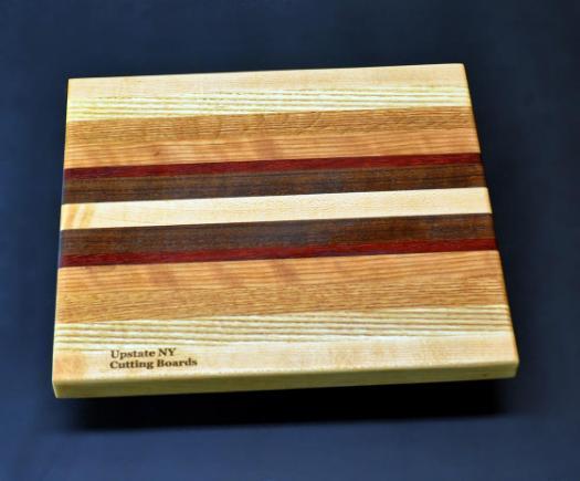 Mixed hardwood Cutting Board with Padauk 8.5 x 10 x .75 - 3 image 1